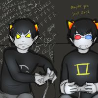Karkat and Sollux Play COD by LittleCrazyEyes