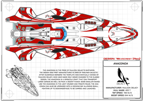 Elite: Dangerous design comp: Anaconda 'Wavecrest' by Starbolt-81
