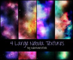 4 Large Nebula Textures by xdarknessfalls