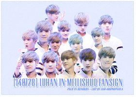 [PACK 15 RENDERS] LUHAN IN MEILISHUO FANSIGN by IAM-MUPMIP