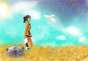Portal 2 Fan Art by EmilyScary