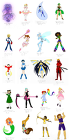 Magical Girls All by Mechanical-Dragon
