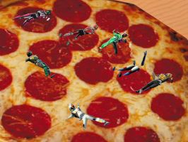 Kamen Rider Pizza by mattwo