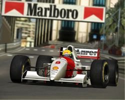 Senna Monaco 1993 by thylegion