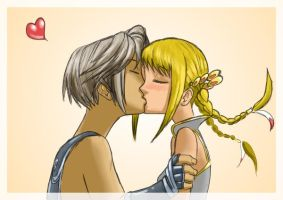 Vaan kisses Penelo X3 by alexsanlyra