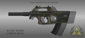 Fictional Firearm: HC-K88 [Razor] Carbine by CzechBiohazard