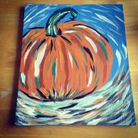Abstract Pumpkin by AbbyCatWolff