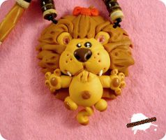 FIMO - Cowardly Lion Wiz of OZ by buzhandmade