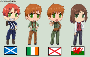 Scotland,Ireland,N. Ireland And Wales by P-ChanAndP-Kun