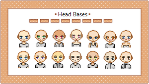 14 Head Bases by NekoSoraYagami