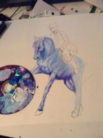 Blue horsey by EdithSparrow