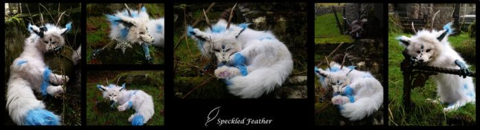 FOR SALE: White Dragon Dog Soft Mount by Speckled-Feather