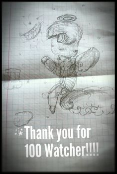 Thank you for 100 Watcher!!! : Kawaii Milton by Wolf123pl