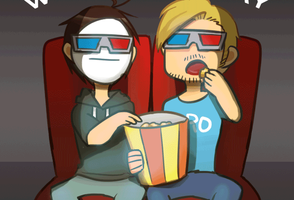 Movie time with PewdieCry by aulauly7