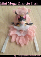 Mini Mega Diancie Plush by Latiasylveon