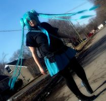 Miku  love is a war cosplay  #3 by jessthecase88