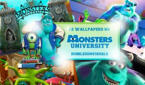 Wallpapers Monster university by bubblegumvisuals