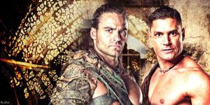 Gannicus and Crixus by shirleypaz