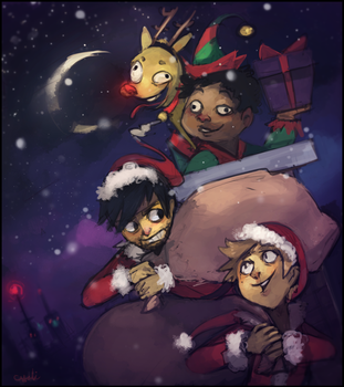 Shit, Let's Be Santa by Sylladexter