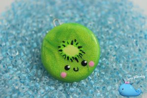 Kiwi Necklace by Shelby-JoJewelry