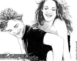 Robert and Kristen by Onyxiia