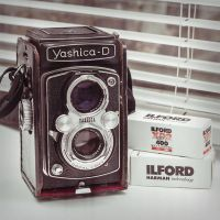 Yashica and Ilford by jonniedee