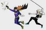 Spider Chases Bat by Casas