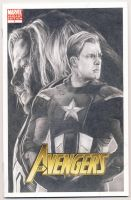 Captain America and Thor Avengers sketch cover by smoothdaddyride
