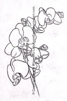 Orchid tattoo design by LadyFromEast