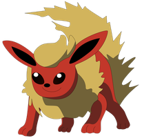 My first vector of Flareon. by Flutterflyraptor