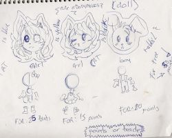 Adoptables doll 17,18,19 by C-ELF
