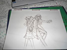 N touko subway boss lineart by MaylaDR93