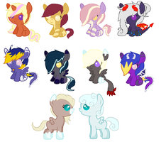 Unsold Foals 3 [MOVED] by CuppieCakeAdopts