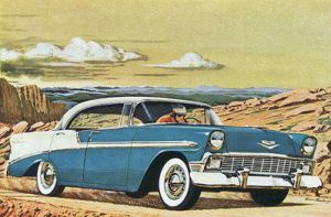 age of chrome and fins: 1956  Chevrolet by Peterhoff3