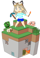 Me In Mincraft by babybunny80