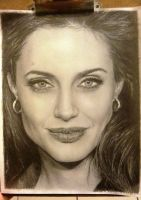 Angelina Jolie Drawing. by LaPicher