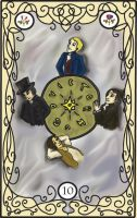 Les Mis Tarot: 10 The Wheel by RiderRRiddle
