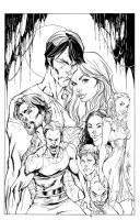 True Blood Cover1 Inks by devgear