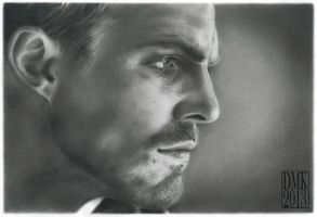 Stephen Amell portrait by dmkozicka