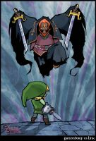 Ganondorf Vs. Link by CitizenWolfie