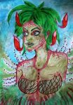 carnivorous plant Dryad by chaosqueen122
