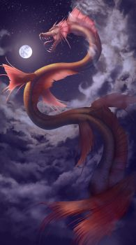 The Moon Eater by oshRED