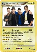 Big Time Rush Pokemon Card by Xiaolin101