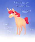 Valentine's Unicorn Card by skygrl98