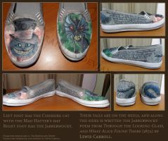 Alice in Wonderland shoes by Moon-wraith-x