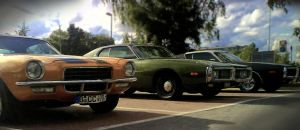 Camaro, Charger, Charger by damagefilter