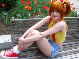 Pokemon: Misty at the Cherry Blossom Festival by x-Lunairetic-x