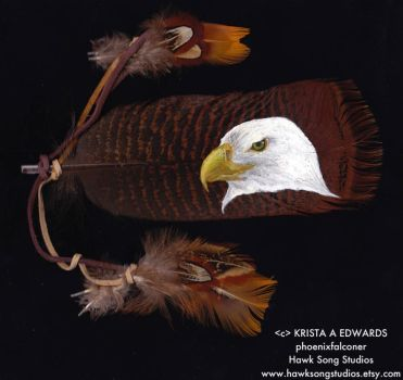Eagle Painted Feather by PhoenixFalconer
