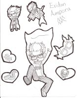 Eridan Ampora Sheet Outline by MyAliceKills