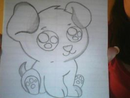 My Puppy Drawing by Angelicsweetheart